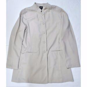 Eileen Fisher Jacket Mandarin Collar Wool Blend S